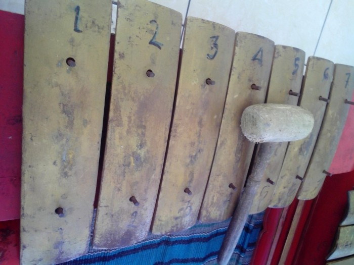 Satu koleksi gamelan yang digunakan untuk berlatih dan pertunjukkan Komunitas Arema!Ker