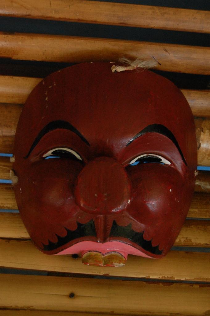 Topeng Malangan berkarakter peran pembantu mempunyai bentuk yang lucu-lucu.